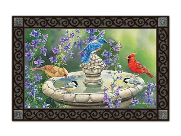Birdbath Gathering Matmate Interchangeable Doormat