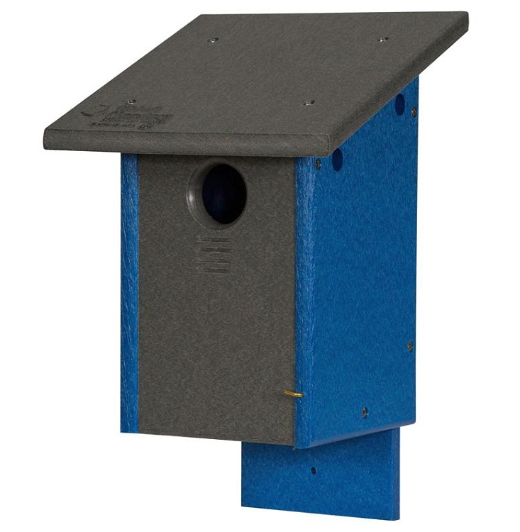 Amish recycled poly classic bluebird house package with for Classic bird houses