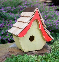 Tweetsie Bird House Yellow/Red