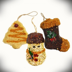Christmas Shapes Bird Seed Ornament Gift Box 12/Pack