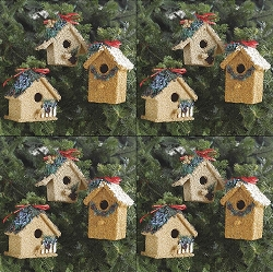 Holiday Birdie Cottage Treat Set of 12
