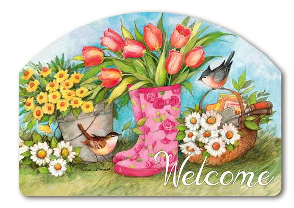 Garden Boots Yard DeSigns Magnetic Yard Art