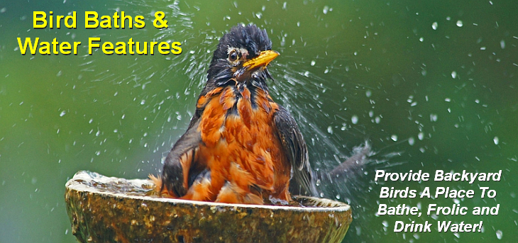 Bird Baths, Fountains and Accessories