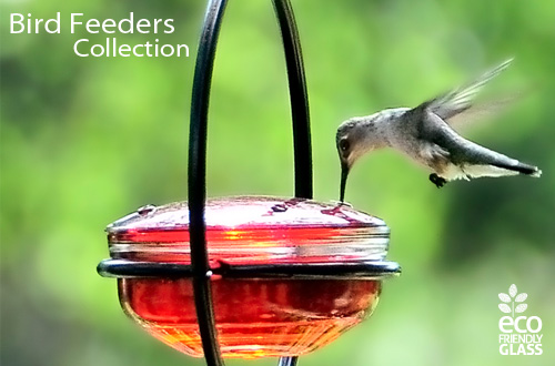 Couronne Glass and Metal Bird Feeders Collection