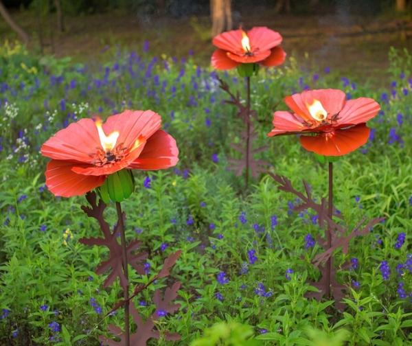 Poppy Garden Torch