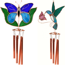 Stained Glass Wind Chimes Small 20 Inch
