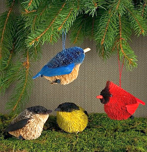 Brushart Bristle Brush Ornaments