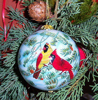 Songbird Series Glass Ornaments