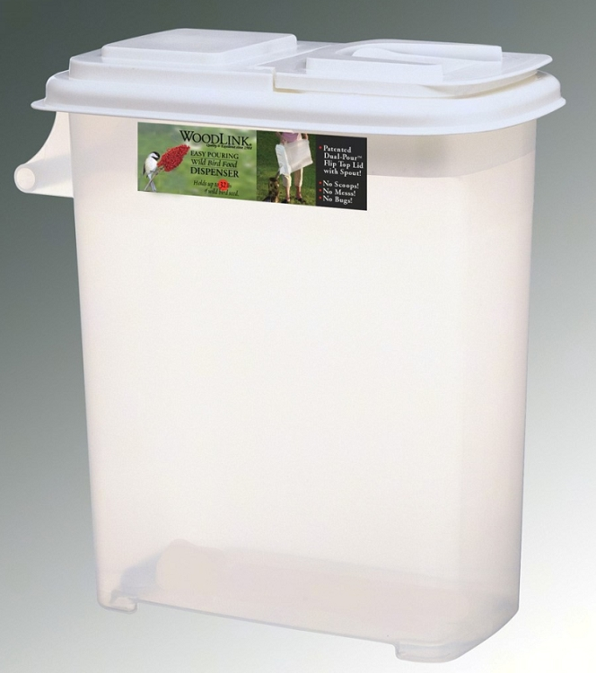 Seed container dispenser 32 quart for Bird food holder