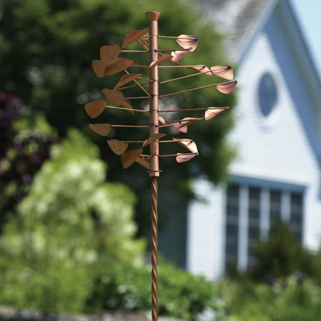 Copper Disc Wind Spinner with Twisted Stake