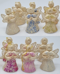 Abaca Baby Angel Ornament Assorted Sparkle 2