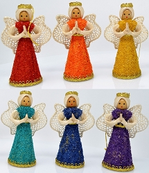 Abaca Angel Kitkat Ornament Assorted 4