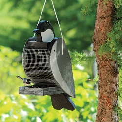 Amish Hand-Made Shaped Bird Feeder Chickadee