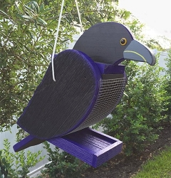 Amish Hand-Made Shaped Bird Feeder Raven