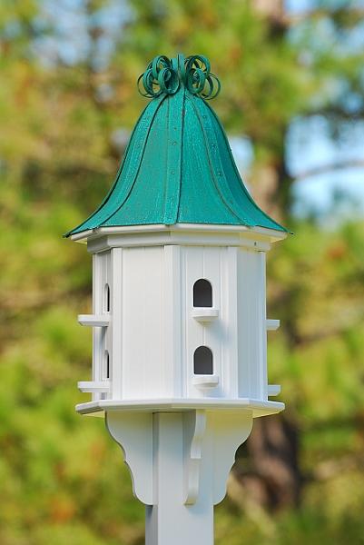 14 Quot Dovecote Birdhouse 8 Rooms Perches Patina Copper Curly