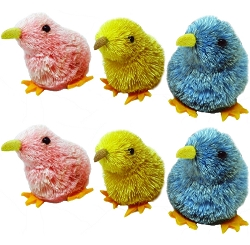 Brushart Chicks Assorted Ornament Set of 6