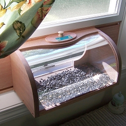 Conservation Bread Box In-House Window Feeder with Mirror