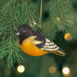 Cobane Studio Baltimore Oriole Blown Glass Ornament