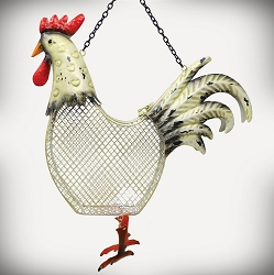 Rooster Mesh Bird Feeder