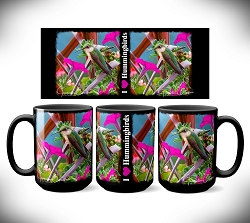 I Love Hummingbirds Coffee Mug 15 oz. Set of 2