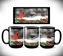 Let it Snow Coffee Mug 15 oz. Set of 2