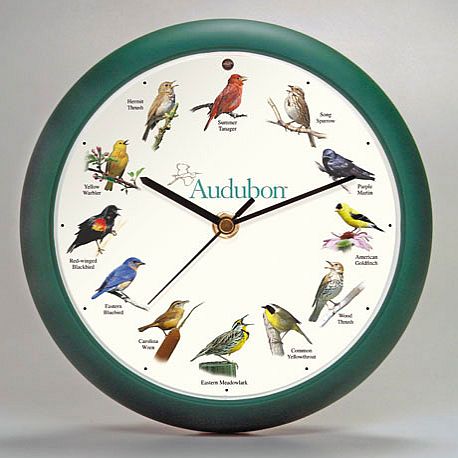 Audubon Singing Bird Clock 13 Quot Green Wall Clocks With