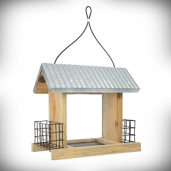 Rustic Series Galvanized Weathered Hopper Feeder