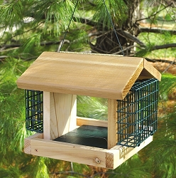 Songbird Cedar Plantation Feeder w/Suet Cages