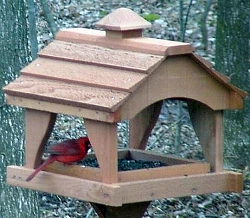 Pavilion Cedar Bird Feeder