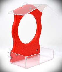 Recycled Poly Window Feeder Red