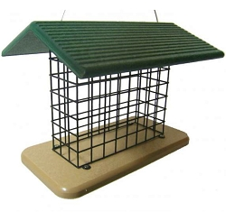 Birds Choice Recycled Plastic Seed and Suet Block Feeder
