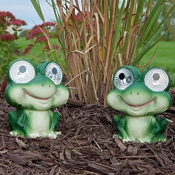 Garden Pals Solar Frog Accent Light Set of 2