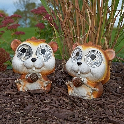 Garden Pals Solar Chipmunk Accent Light Set of 2