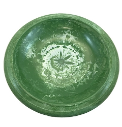 Tierra Garden Kale Green Gloss Bird Bath Bowl with Gloss Rim