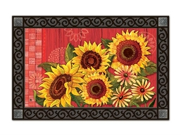 Red Barn Sunflowers MatMate Doormat