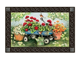 Geraniums By The Dozen MatMate Doormat