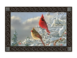 Winter Cardinals MatMate Doormat