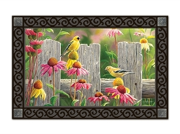 Goldfinches & Coneflowers MatMate Doormat