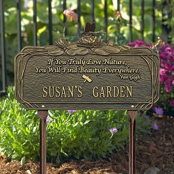 Dragonfly Poem Personalized Garden Plaque
