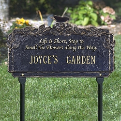 Butterfly Poem Personalized Garden Plaque