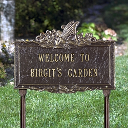 Welcome Fairy Personalized Garden Plaque