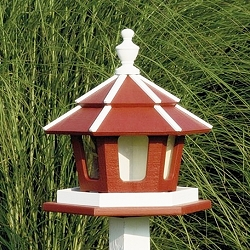Amish Recycled Poly Gazebo Bird Feeder