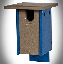 Amish Recycled Poly Sparrow Resistant Small Bluebird House