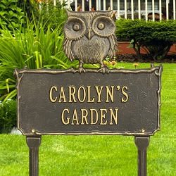 Owl Personalized Garden Plaque