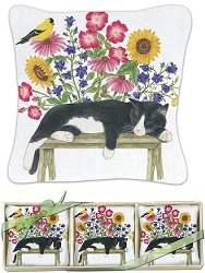 Cat on Bench Gift Boxed Lavender Sachet Set of 3
