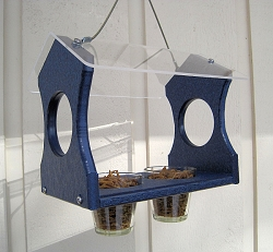 Recycled Poly Hanging Bluebird Feeder