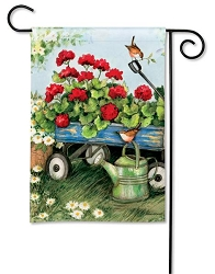 Geraniums By The Dozen Garden Flag