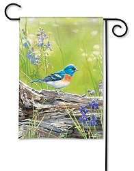 Meadow Bluebird Garden Flag