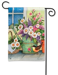 Front Porch Flowers Garden Flag