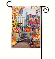 Autumn Porch Garden Flag